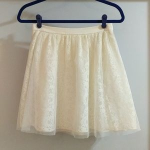 Express Ivory Lace Skirt
